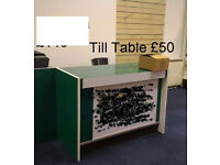 Till table with electrical switch board fittings, cash counter table needs gone urgently, give offer