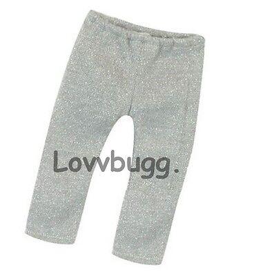 "Lovvbugg Silver Sparkle Leggings for 18"" American Girl Doll Clothes"
