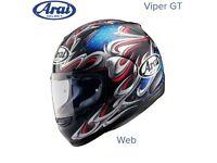#ARAI VIPER GT MOTORCYCLE HELMET - WEB - LARGE - EXCEL COND - £145 #shoei #agv #hjc