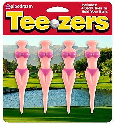 Teezers Sexy Golf Tees Hold Ball 4pk Back Nine Swinger Tourn