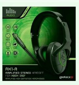 BRAND NEW Gioteck AX1-R Amplified Gaming Head Fone