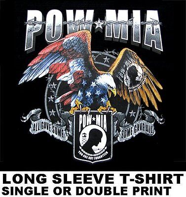 AMERICAN POW MIA UNITED STATES NAVY ARMY MARINES AIR FORCE USA LONG SLEEVE SHIRT