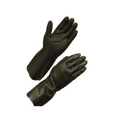 Unsupported neoprene safety gloves  28 mil flocklined 12-inch length LARGE - 12 Inch Neoprene Gloves