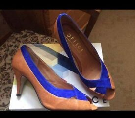 Office Blue/Tan Shoes - Size 6.5 - Worn for few hours