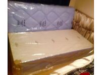 Brand new single divan bed semi orthopaedic