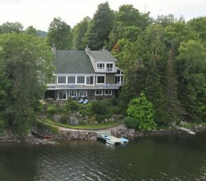 The Undiscovered Pearl!  Beautiful Lakefront Home; 2.5 hr. Mtl