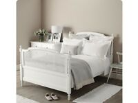 The White Company White Rattan Wooden Double Bed - RRP £1400