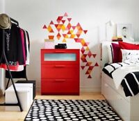 IKEA BRIMNES red chest of drawers dresser