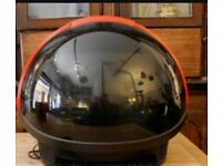 TELEVISION 1980'S PHILIPS DISCOVERER 'SPACE HELMET' TV vintage Design