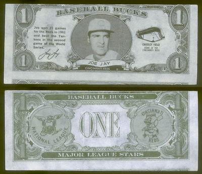 18530  1962 Topps Baseball Bucks Joe Jay Reds Mc Em