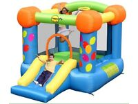 Party slide and hoop 9ft bouncy castle