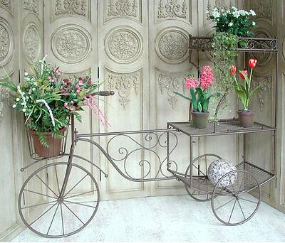 Großes Fahrrad Rikscha Rad Dreirad Blumenständer 150cm 0949057-b