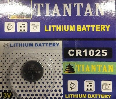 Tiantan CR1025 3V Lithium Battery Single Pack - Authorized Seller!