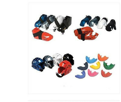 Proforce Sparring Gear Set Head Foot Hand Pads Mouth Martial Arts Karate TKD