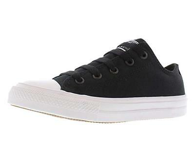 Converse Kids Chuck Taylor All Star II Ox Lo Top  11 M Little Kid, Black/White (Converse Little Kid)