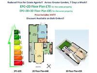 EPC £35, Greater London, Floor Plan-£40, EPC+Floor Plan-£70, 7 Days a Week