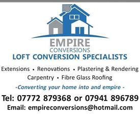 Builder, loft conversions specialist, extensions, renovations