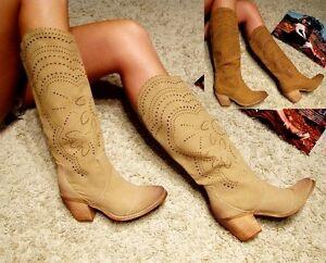 damen western cowboy stiefel stiefelette boots. Black Bedroom Furniture Sets. Home Design Ideas