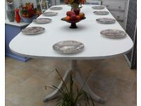 Shabby chic , extendable dining table, 5 ft extends to 7 ft