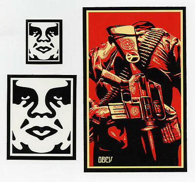 OBEY GIANT Shepard Fairey 3 STICKER LOT Set #17 *BRAND NEW* Peace Gun - $(KGrHqJ,!h4E-byvCz4dBP5g3+h)+w~~60_1