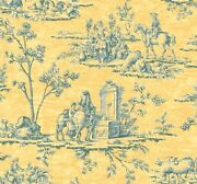 Yellow Toile Wallpaper