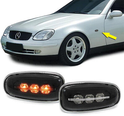 LED Seitenblinker schwarz klar für Mercedes Sprinter Vito W210 SLK R170