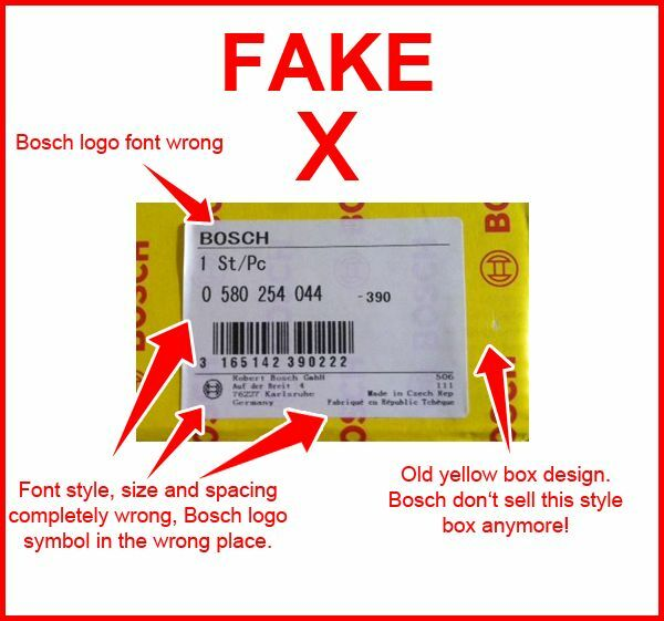Yellow box with a far eastern style font - Look at the box, you should not have a yellow Bosch box product anymore