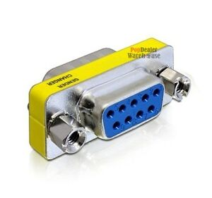 DB9 9 Pin Female to Female Gender Changer Converter PC Extension Adapter RS232