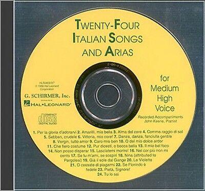 24 Italian Songs & Arias Medium High Voice Accompaniment CD Medium Hig 050483037