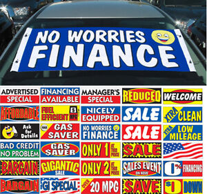 windshield slogan banner ad advertised special financing