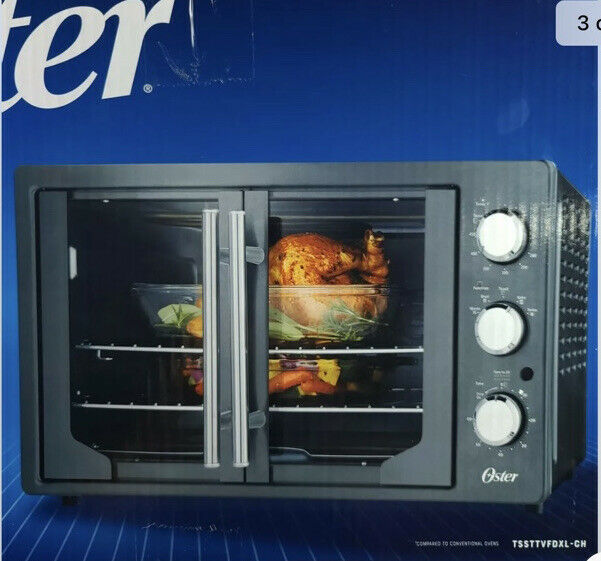Oster French Door Countertop Oven with Turbo Convection Heat TSSTTVFDXL-CH NEW