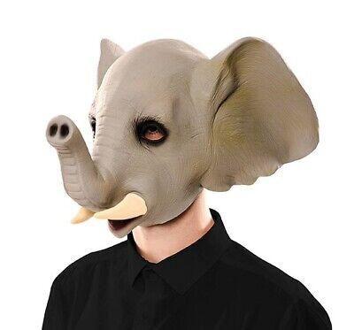 Elefantenmaske Mask Gummimaske Erwachsene (Elefant Maske)