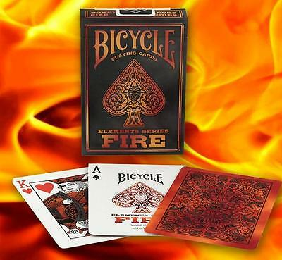 1 Deck Bicycle Fire Standard Poker Playing Cards Sealed New In Box