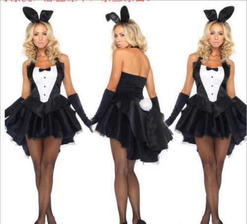 New Women Halloween Outfit Fancy Dress Set Sexy Bunny Costume Adult Uniform Hot