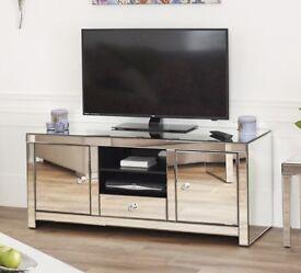 Mirrored TV unit (RRP £380)
