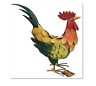 COUNTRY FARMYARD METAL COCKEREL/HEN/CHICKEN-GARDEN/PATIO ORNAMENT/INDOOR/KITCHEN
