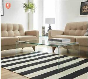 Brand New Fantastic Furniture Verve Glass Coffee Table Coffee