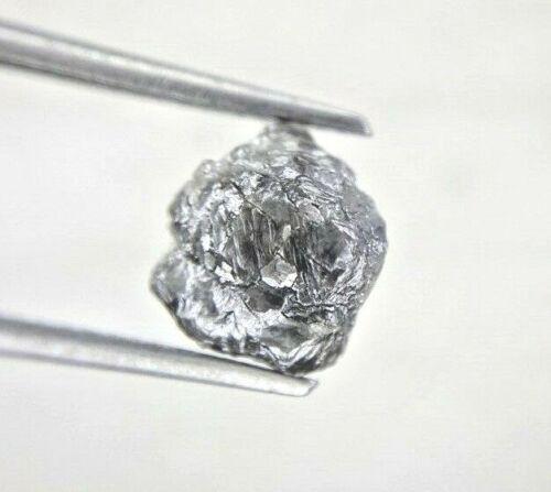 Natural Raw Diamond 2.63TCW Grayish Black Sparkling Irregular Shape for Gift