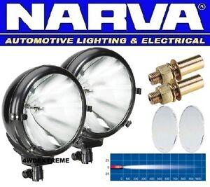 NARVA TAURUS 2x PENCIL SPOT BEAM KIT BLACK BULL BAR DRIVING LIGHTS 72316