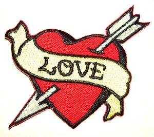 sailor jerry heart arrow  LOVE-Heart-embroidered-iron-on...