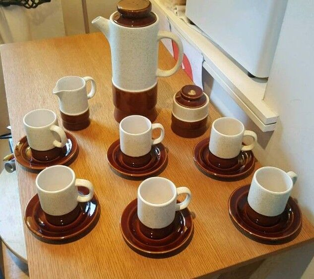 Vintage Retro Secla Portugal 15 Piece Coffe Set