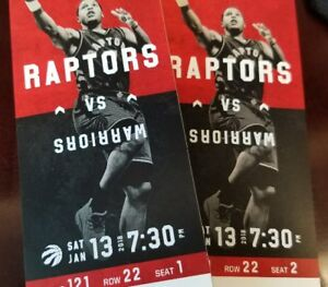 *sold* Raptors vs Golden State Warriors - s121/r22/1,2