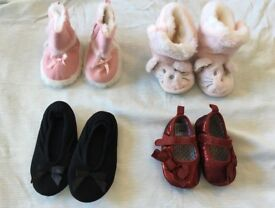 Bundle Baby shoes, incl Little White Company boots 12 mos