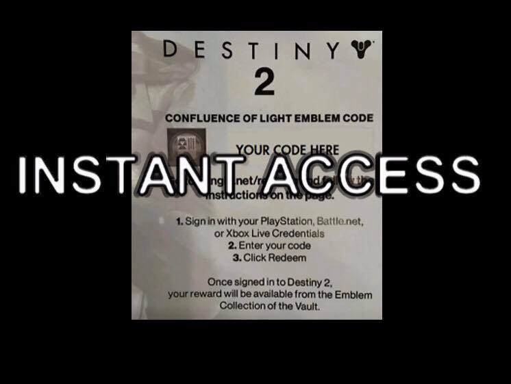 Destiny 2 - Confluence Of Light Emblem 10 Second  INSTANT DELIVERY