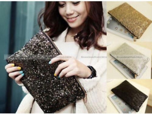 Party Evening Dazzling Spangle Sequins Wallet Purse Clutch Bag Handbag