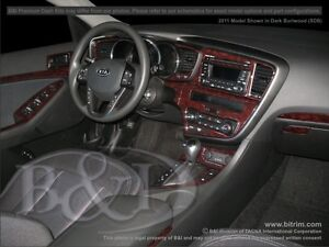 WOOD GRAIN DASH KIT.  FITS ON KIA OPTIMA 2011-2013 WITH NAVIGATION 21PCS.