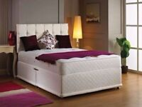MANUFACTURED IN THE UK - BRAND NEW DOUBLE DIVAN BASE WITH SEMI ORTHOPEDIC MATTRESS