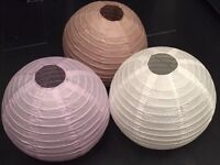 BAMBOO PAPER LANTERNS 40 In Total BNWT Three Colours