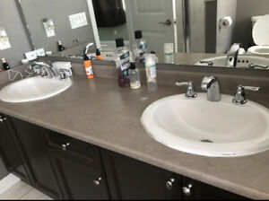 3 washroom sink and faucet