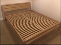 Habitat Radius oak bed frame, European king size, 160x200cm, great condition, can deliver